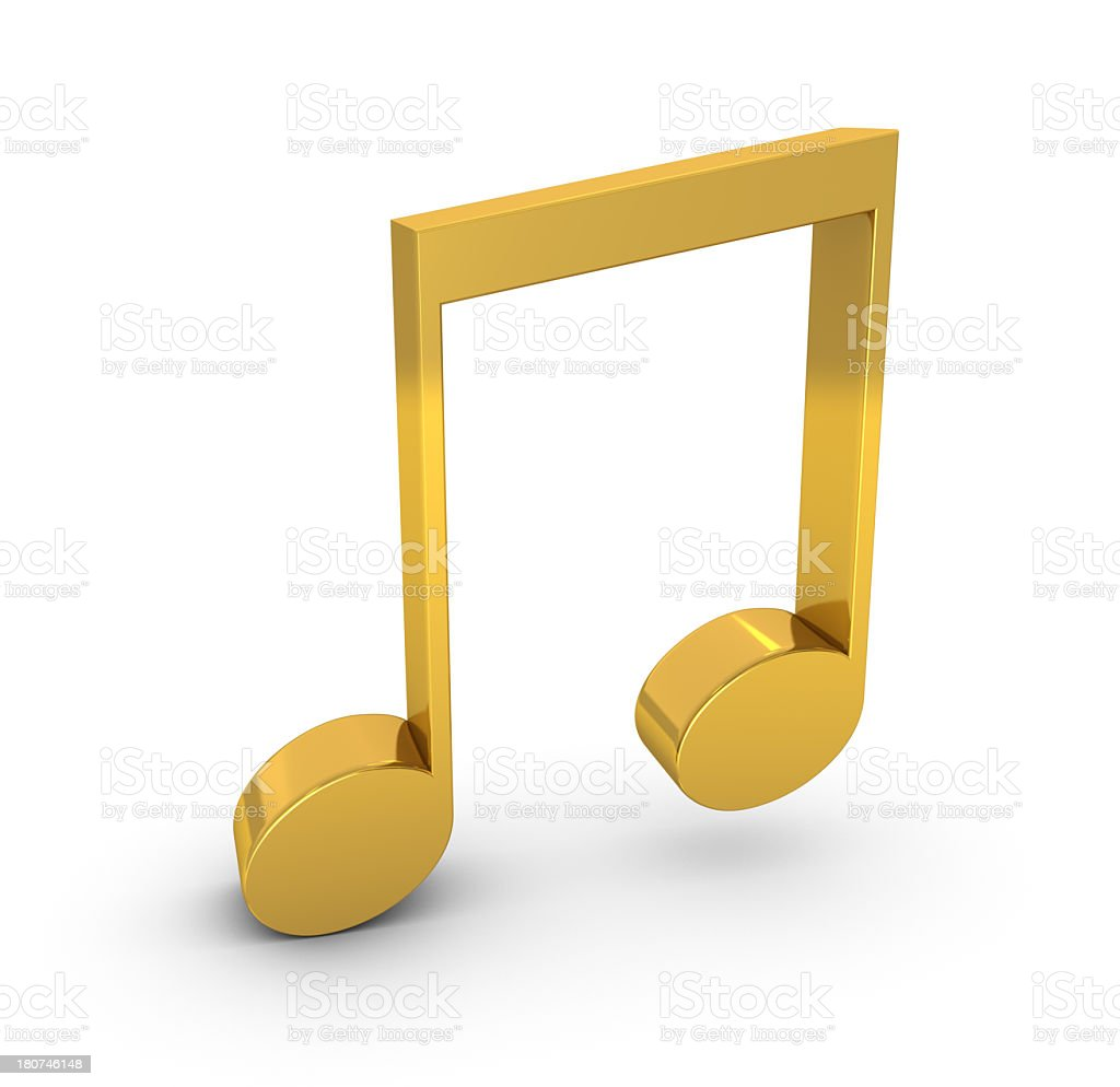 Musical Note Symbol stock photo