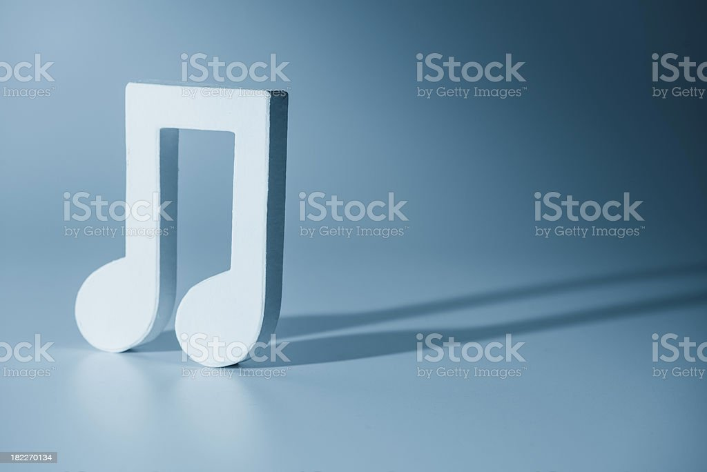 Musical note symbol royalty-free stock photo