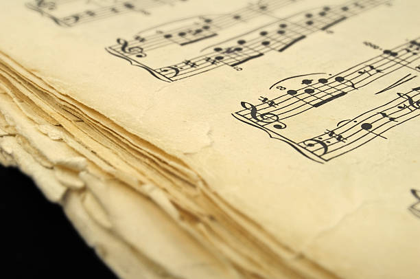 musical notebook stock photo
