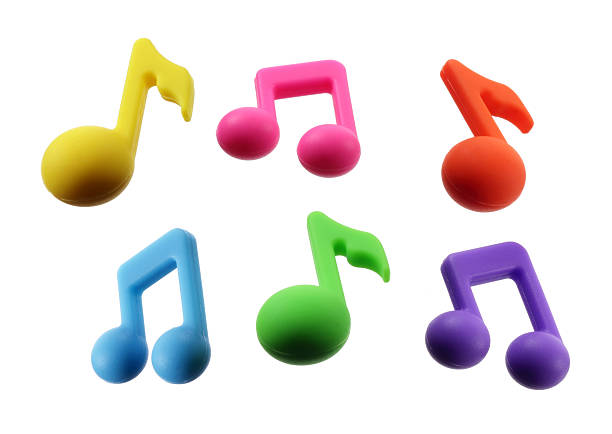 Musical Notes Musical Notes on White Background musical note stock pictures, royalty-free photos & images