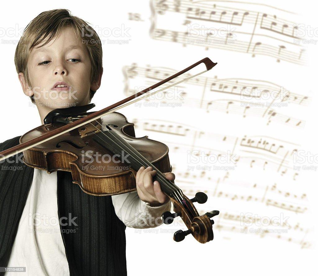Musical Prodigy stock photo