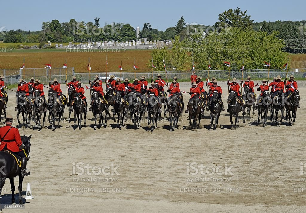 RCMP Musical Ride charge stock photo