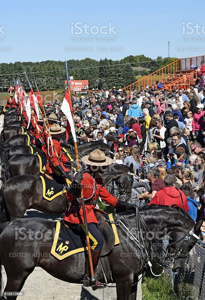 RCMP Musical Ride meet and great stock photo
