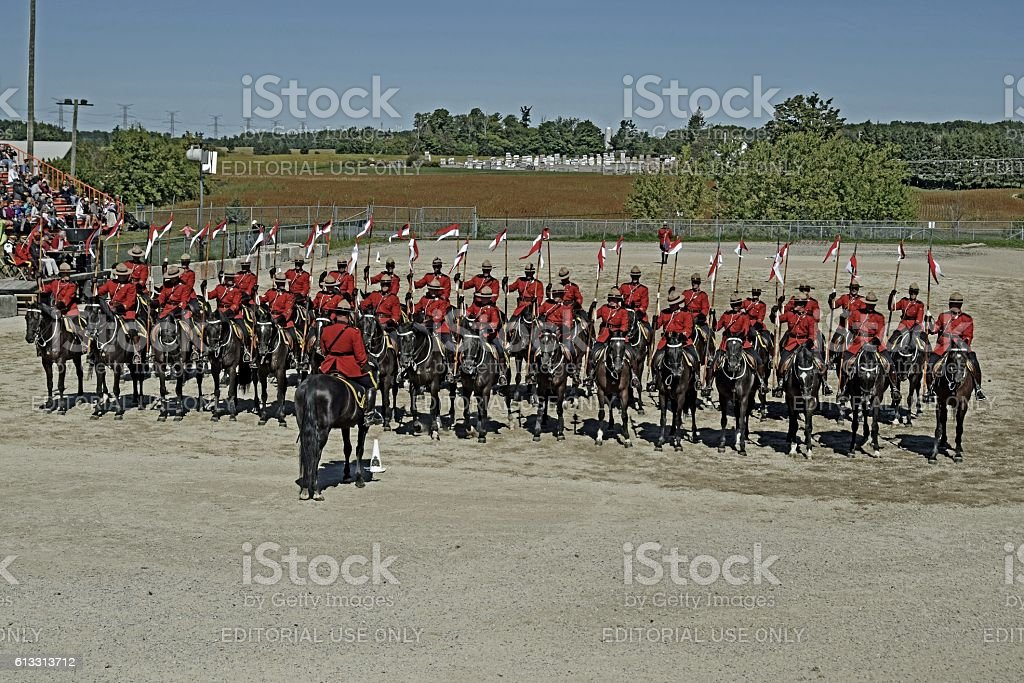RCMP Musical Ride stock photo