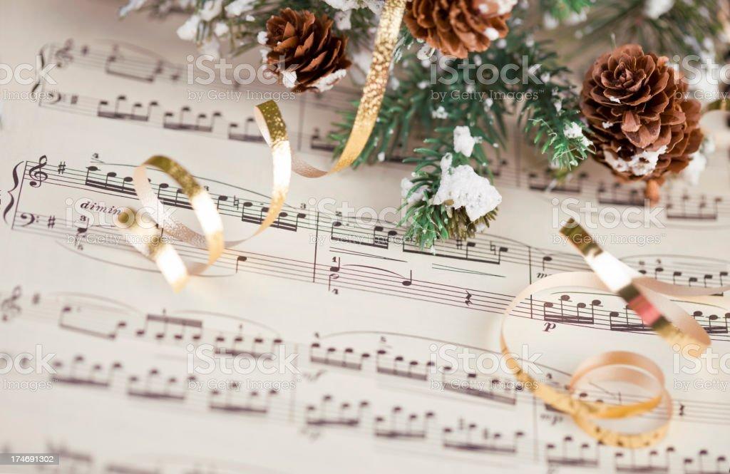 Musical Score Christmas stock photo