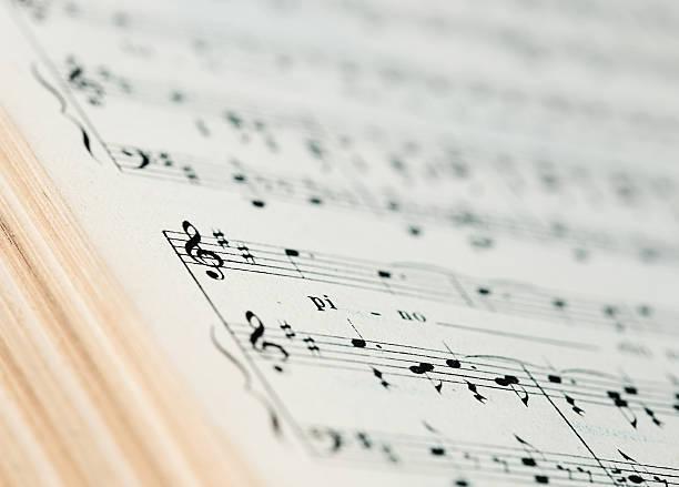 musik score - piano noten stock-fotos und bilder