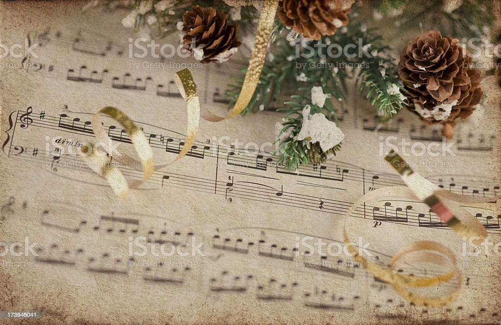Musical Score with Texture stock photo