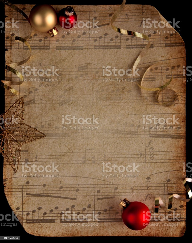 Musical Score with Texture royalty-free stock photo
