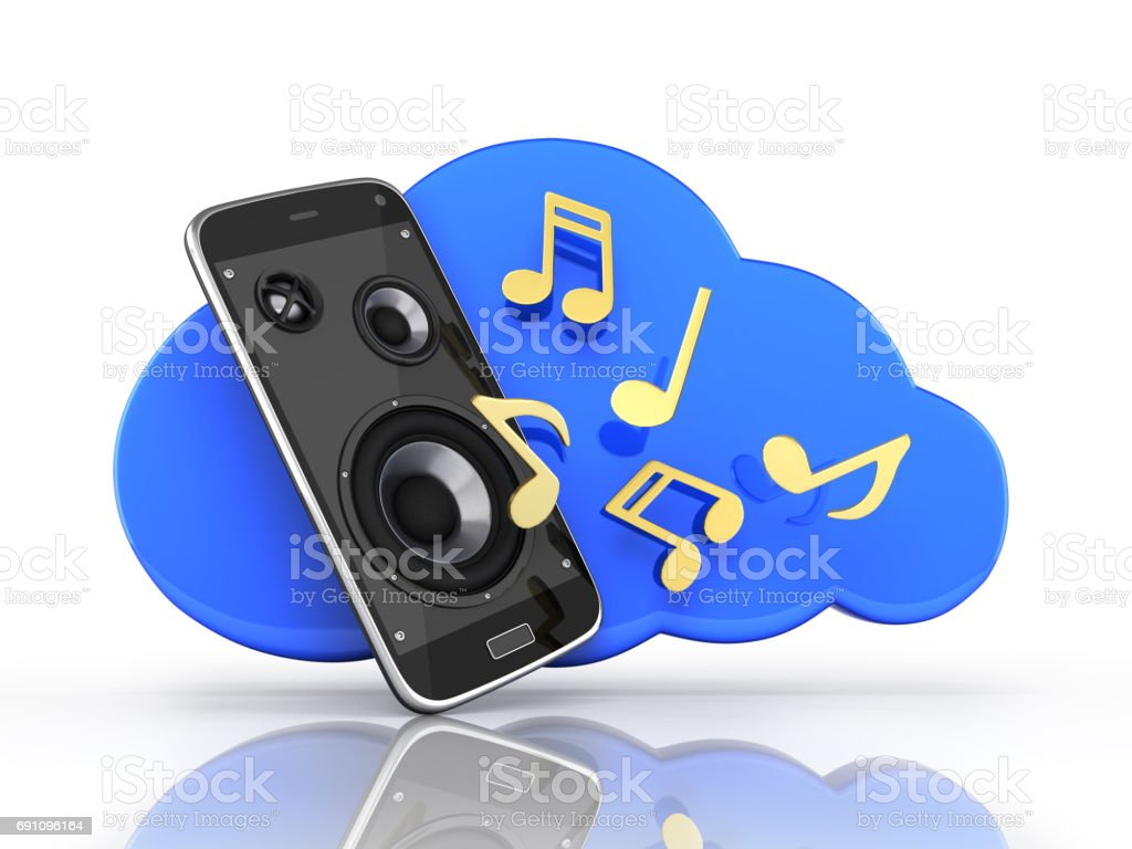 Musical Smartphone Mobile Phone Music App Cellphone And