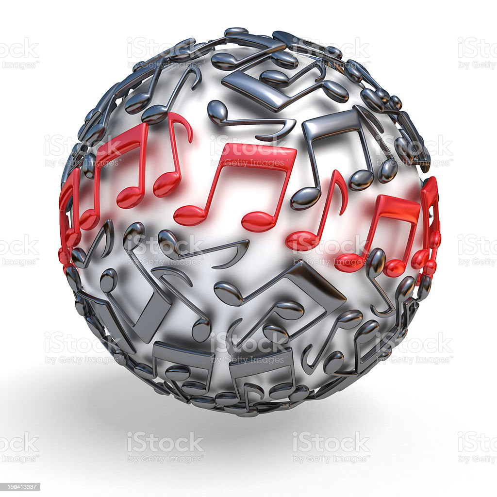 musical sphere royalty-free stock photo