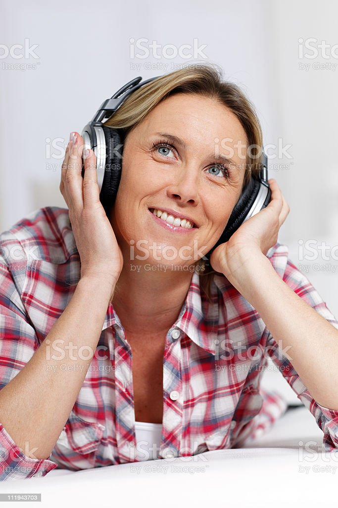 musical woman royalty-free stock photo