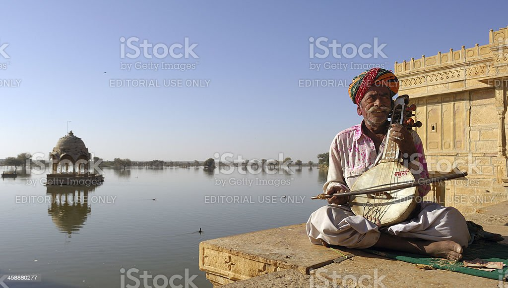 musician in jaisalmer royalty-free stock photo