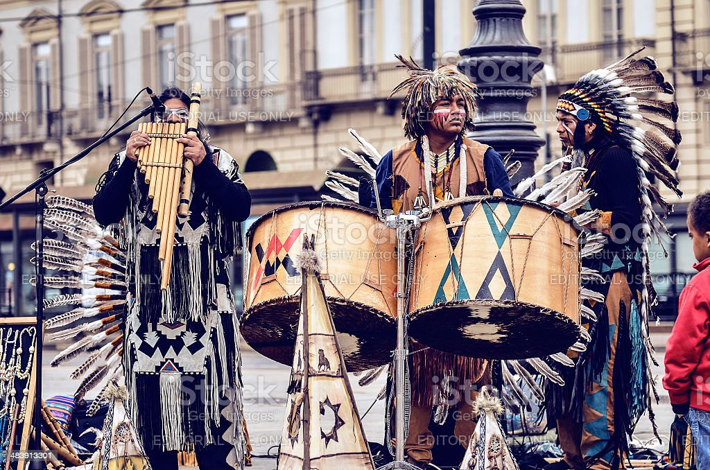 Musician Native Americans royalty-free stock photo