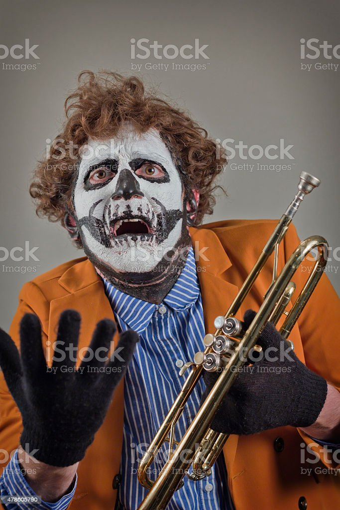 Musician Painted Face stock photo