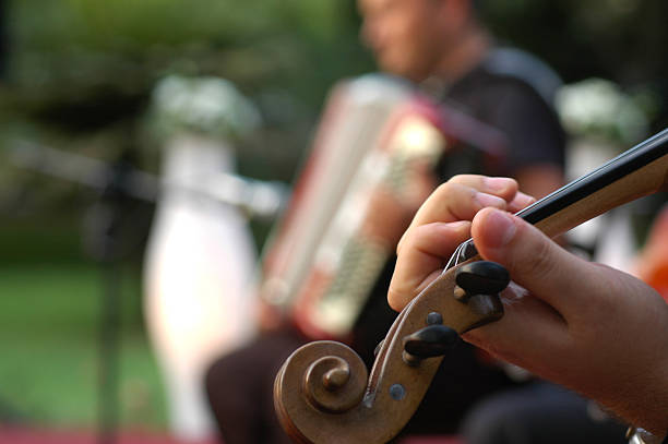Musiker performance im Garten-party – Foto