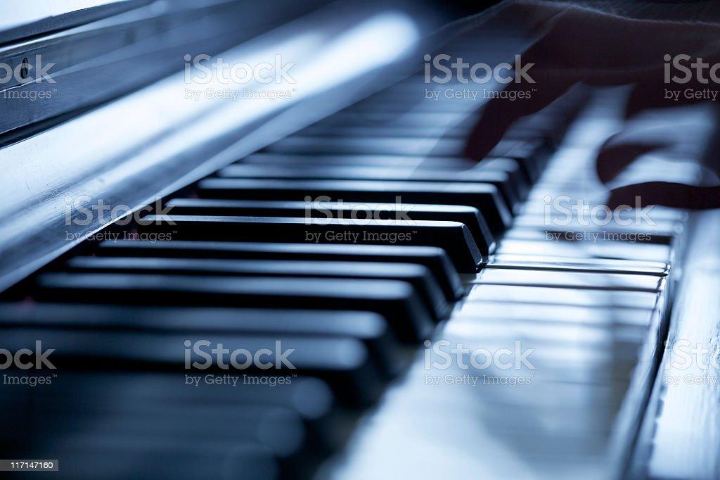 Musician Play Piano royalty-free stock photo