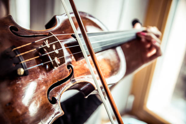 Musician playing violin Musician playing violin folk music stock pictures, royalty-free photos & images