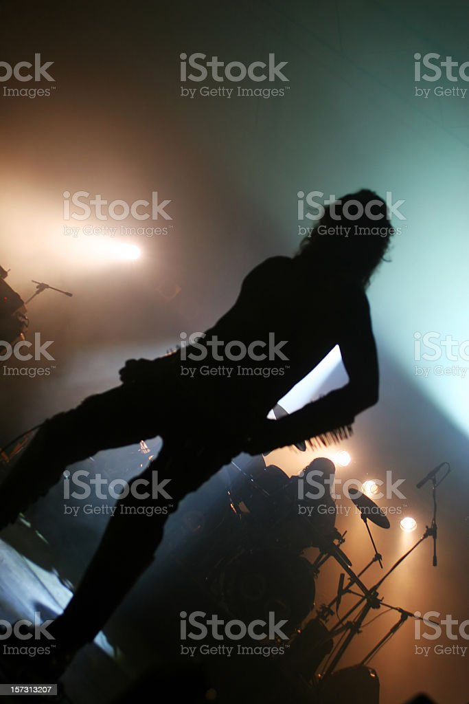 Musician silhouette royalty-free stock photo