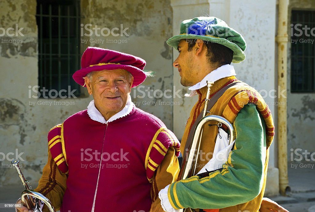 Musicians Chatting between Sets royalty-free stock photo