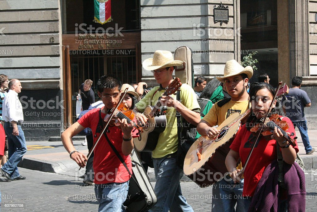 Musicians in Alebrije parade in México city. - foto de stock