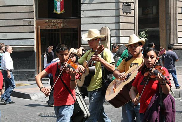 Musicians in Alebrije parade in México city. - foto de stock