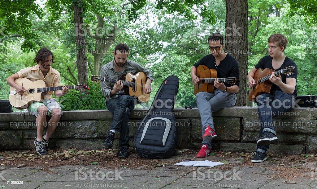BROOKLYN Musicians stock photo