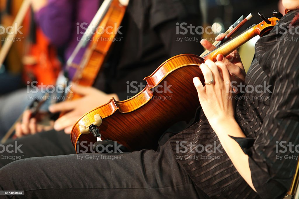 Musicians playing in concert....violinist royalty-free stock photo