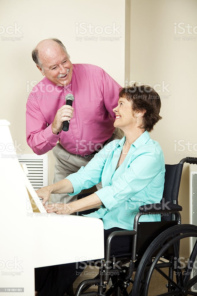 Musicians with Disability royalty-free stock photo