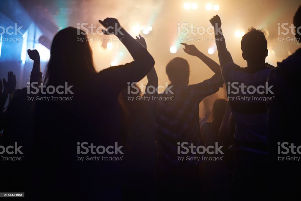 Music-inspired movement stock photo