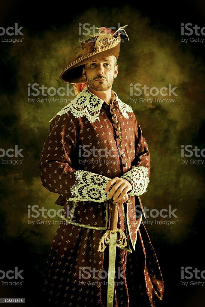 Musketeer's pride stock photo