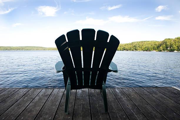 Muskoka Chair stock photo