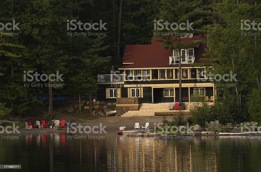 Muskoka Cottage stock photo
