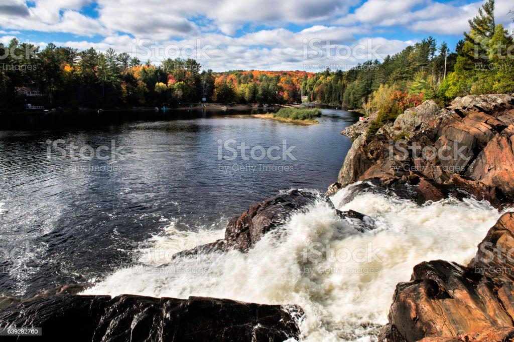 Muskoka Falls stock photo