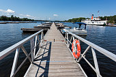 Gravenhurst, Ontarion, Canada - August 15, 2015: Muskoka Steamship is boarding.