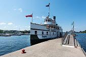 Gravenhurst, Ontarion, Canada - August 15, 2015: Steamship on Lake Muskoka