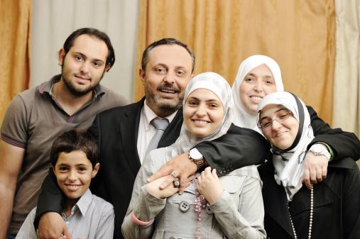 istock Muslim Arabic family indoor 155665182