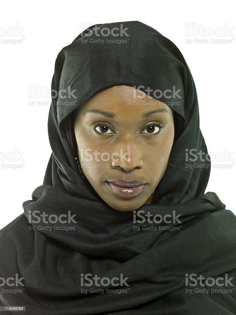 Muslim black woman royalty-free stock photo