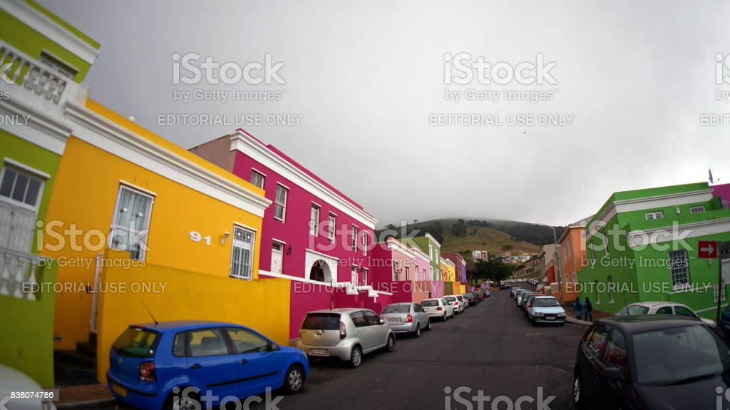 Muslim Bo-Kaap district of Cape Town stock photo