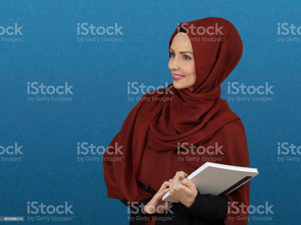 Muslim Businesswoman in Turkey stock photo