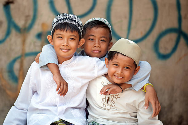Muslim Children  indonesian ethnicity stock pictures, royalty-free photos & images