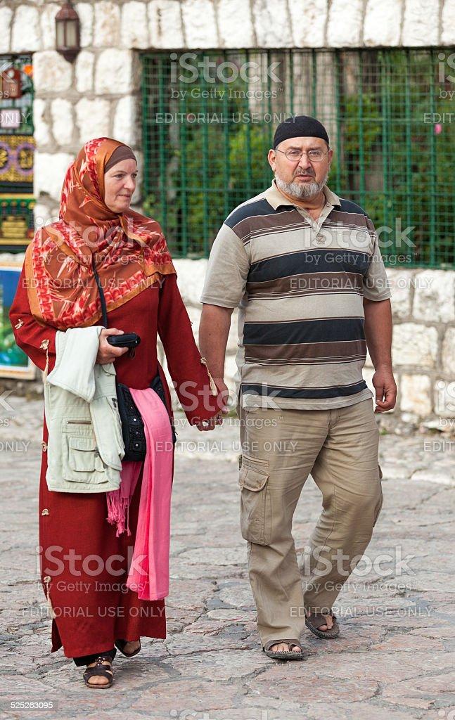 Muslim couple stock photo