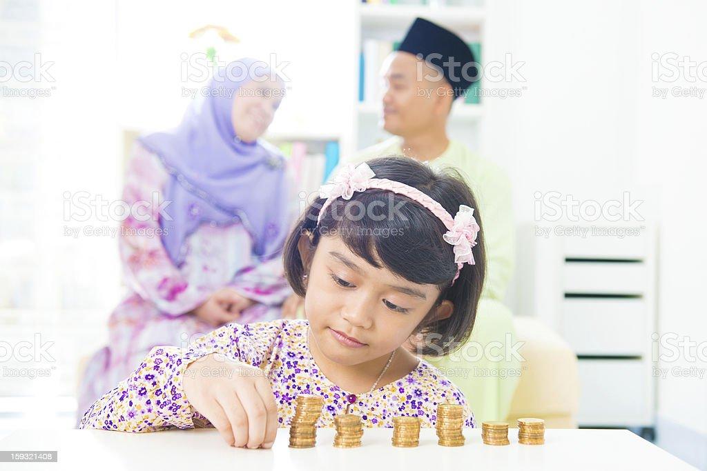 Muslim family royalty-free stock photo