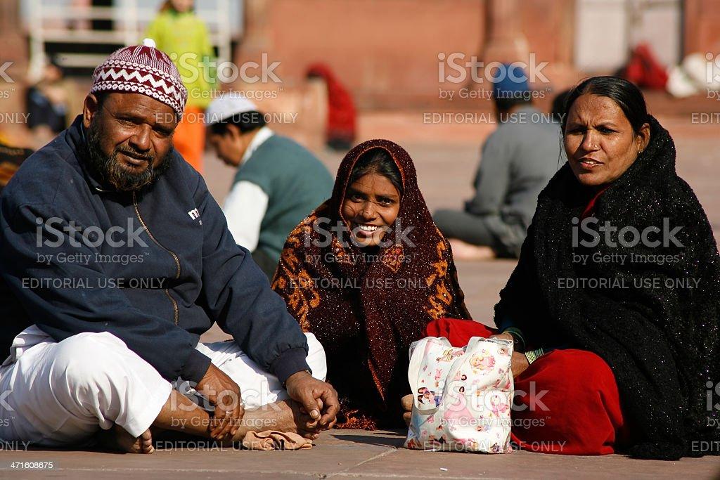 Muslim family stock photo