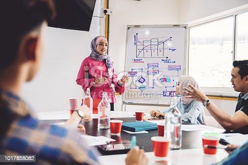 496441730istockphoto Muslim female entrepreneur presenting the keys to successful business 1017858082