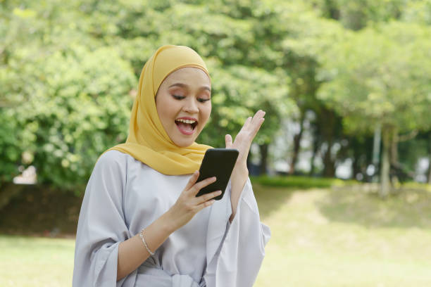 Muslim girl portrait stock photo