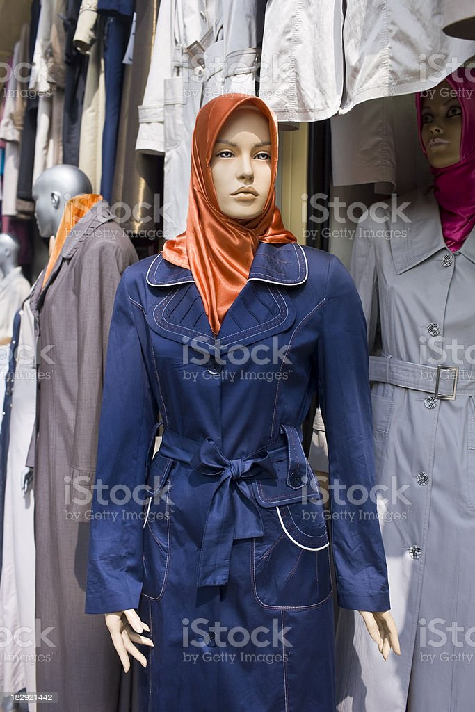 Muslim Headscarf on Mannequin royalty-free stock photo