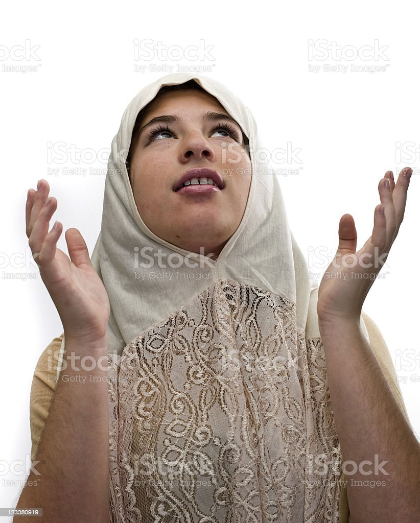 Muslim high school girl royalty-free stock photo