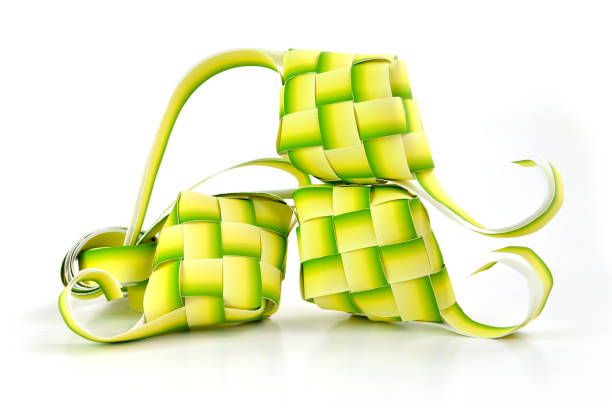muslim ketupat - ketupat stock pictures, royalty-free photos & images
