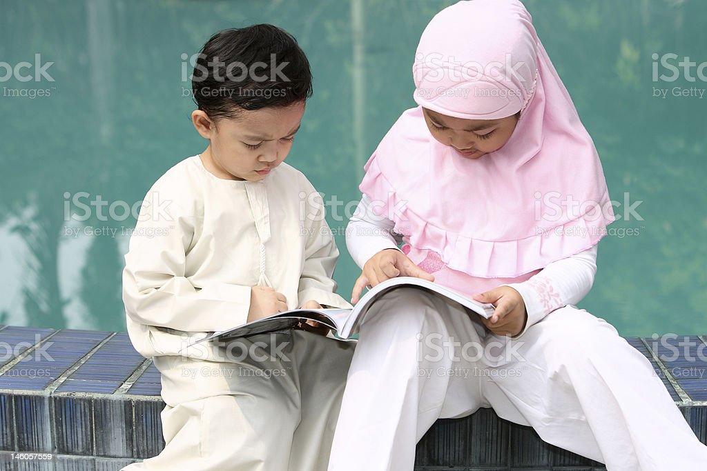 Muslim Kids royalty-free stock photo