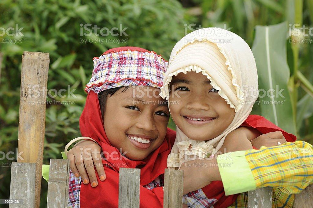 Muçulmanos crianças - Foto de stock de Abraçar royalty-free